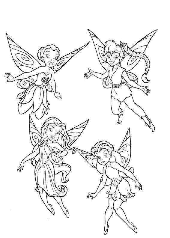 567x794 Coloring Pages Disney Fairies