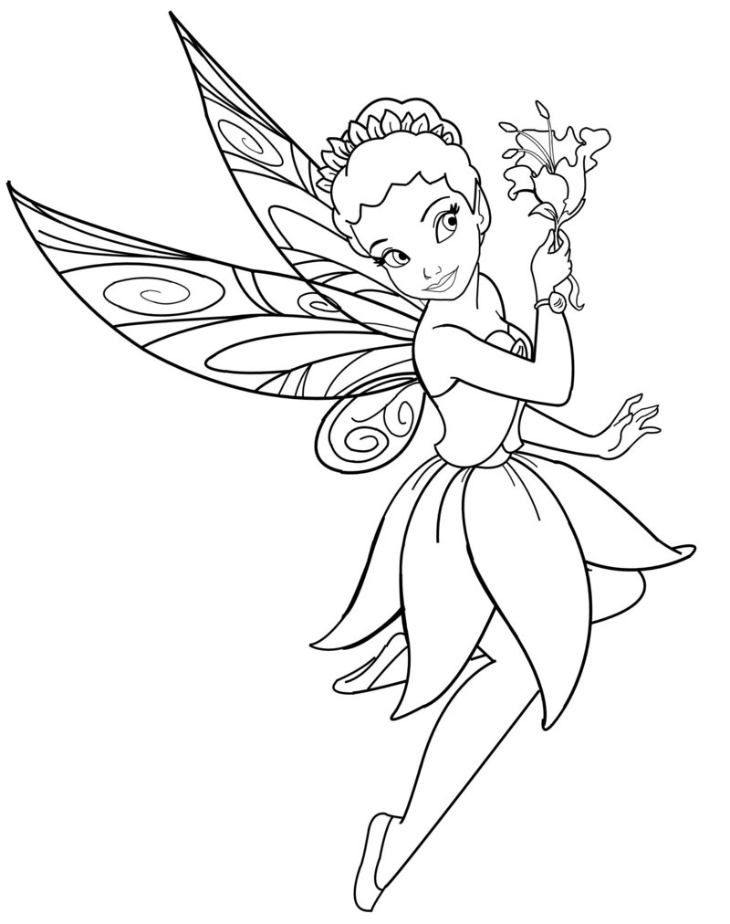 800x1012 Disney Fairies Coloring Page