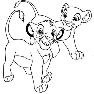 Simba And Nala Coloring Pages