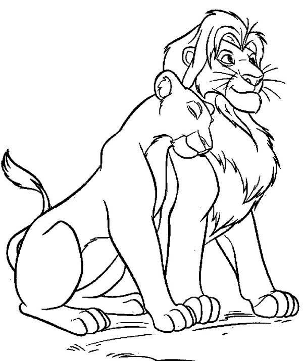 600x716 Simba Nala Coloring Pages Amazing Simba And Nala Coloring Page