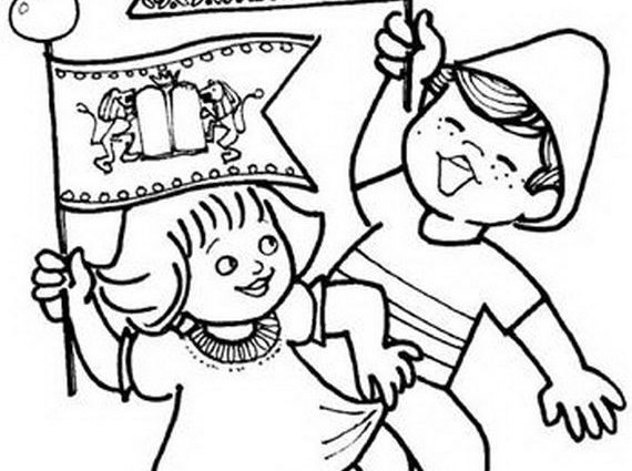 570x425 Torah Coloring Pages Jewish Coloring Pages For Kids Simchat Torah