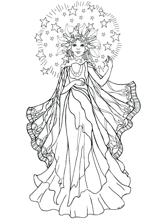 670x900 Guardian Angel Coloring Page