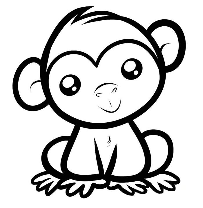 700x719 Cute Easy Coloring Pages Cute Ba Animals Coloring Pages Zoo Page