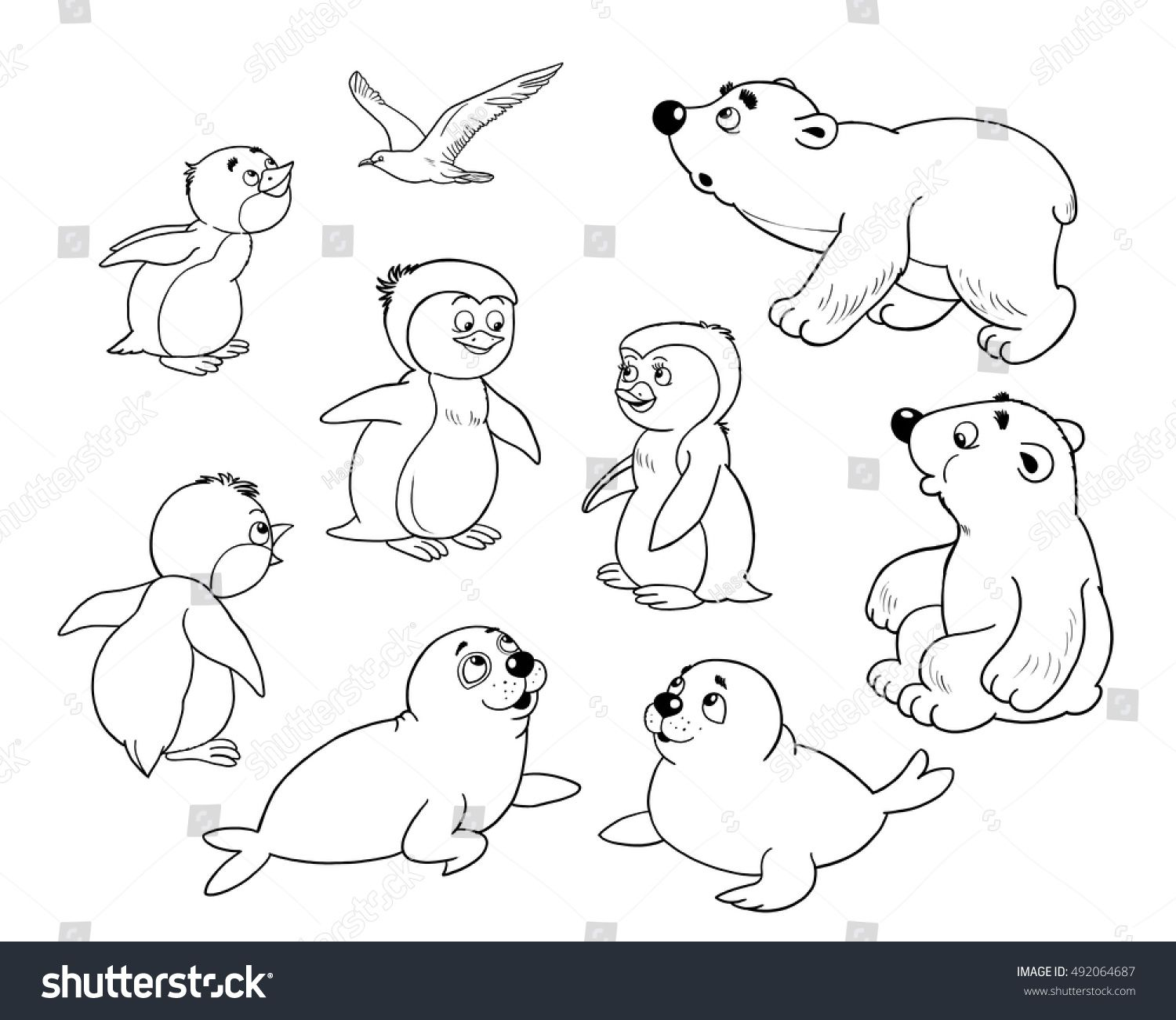 1500x1300 Improved Arctic Animal Coloring Pages Simple Animals Printable