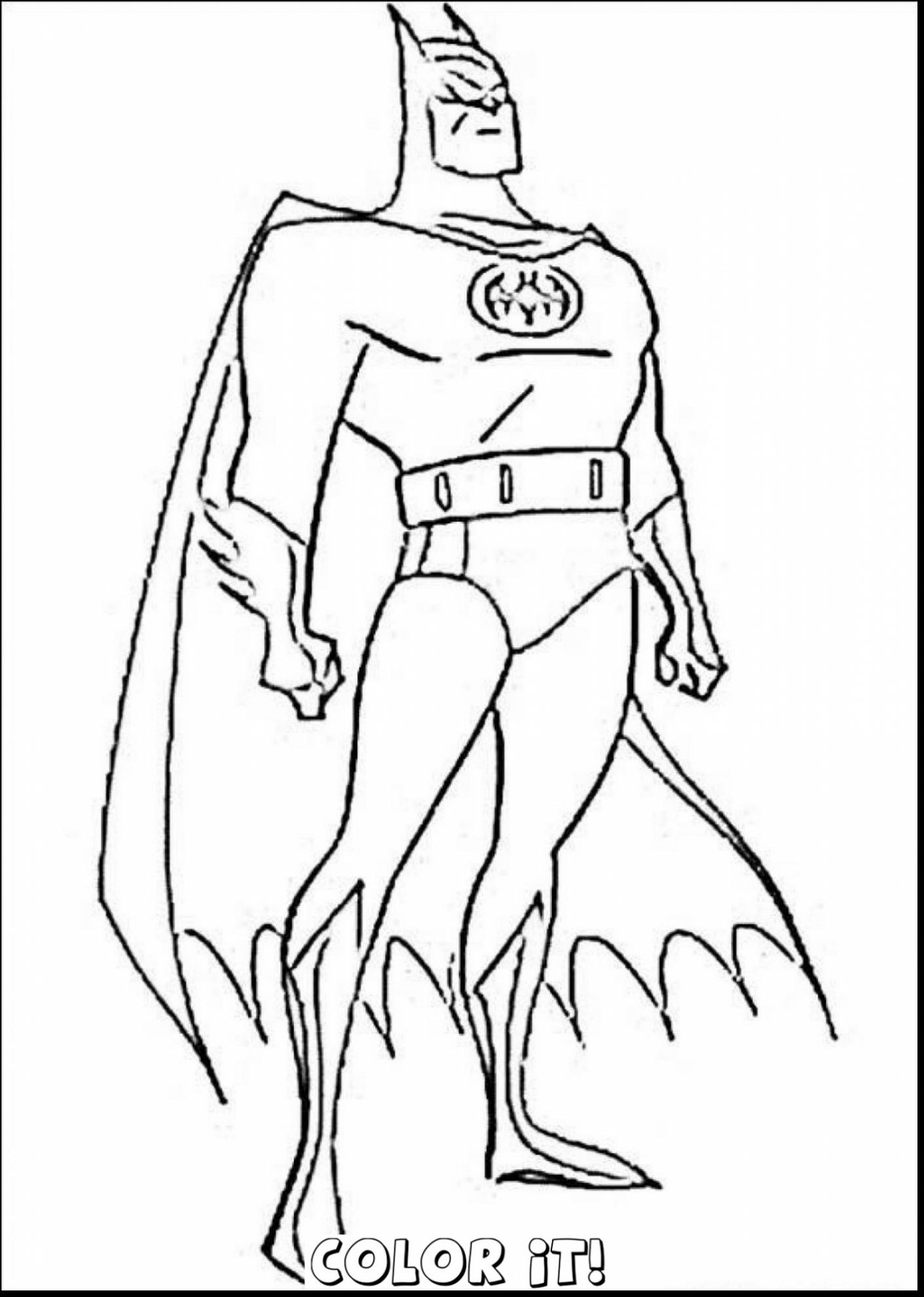 Simple Batman Coloring Pages At Getdrawings Com Free For Personal