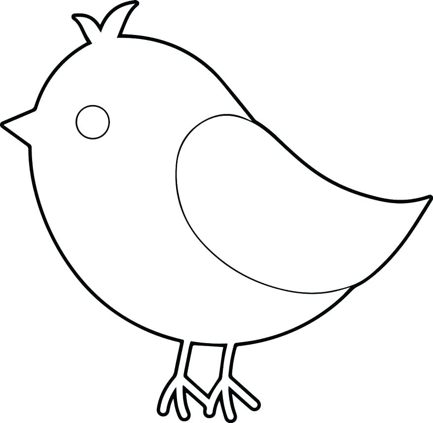 Simple Bird Coloring Pages at GetDrawings   Free download