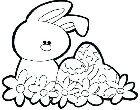Simple Bunny Coloring Pages