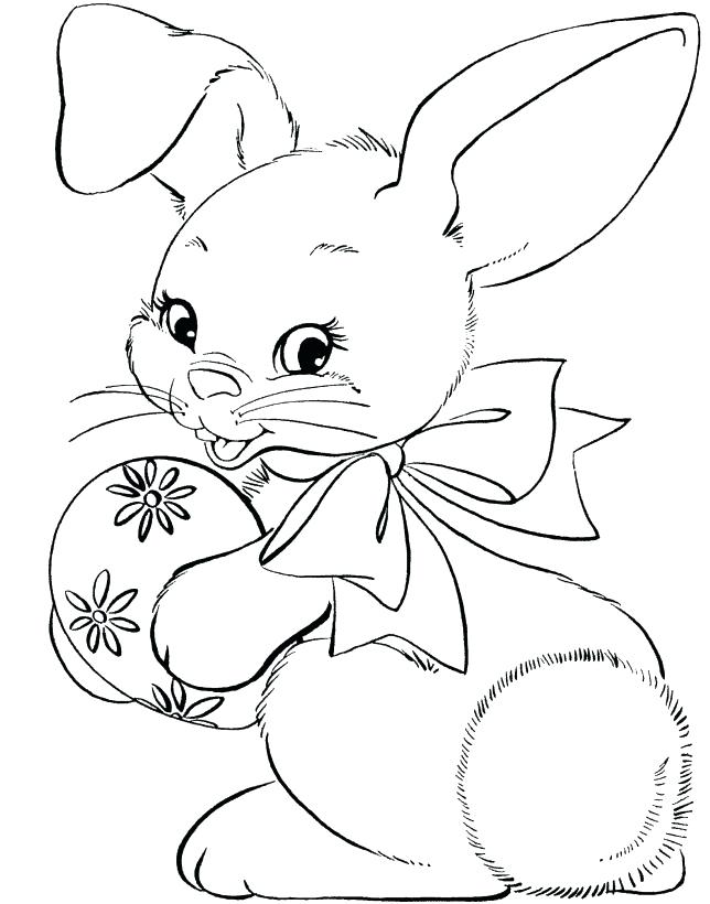 644x820 Easter Coloring Pictures To Print Simple Free Easter Bunny