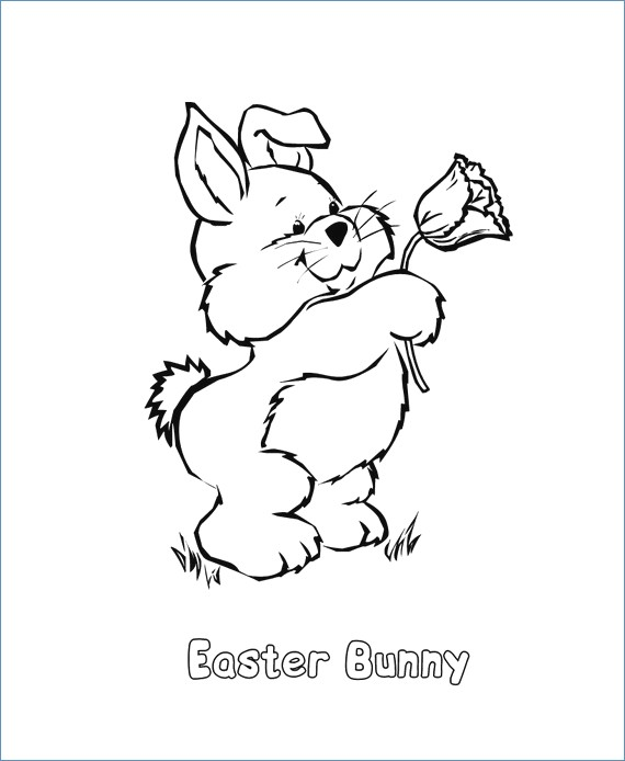 570x694 Easter Egg Coloring Pages Easy