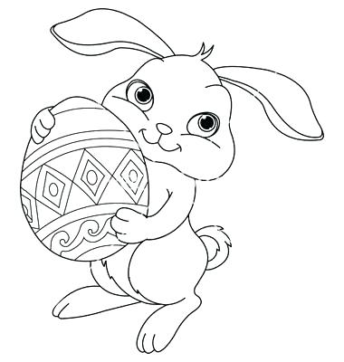 380x400 Easy Easter Coloring Pages Easy Coloring Pages As Well As Easy Egg