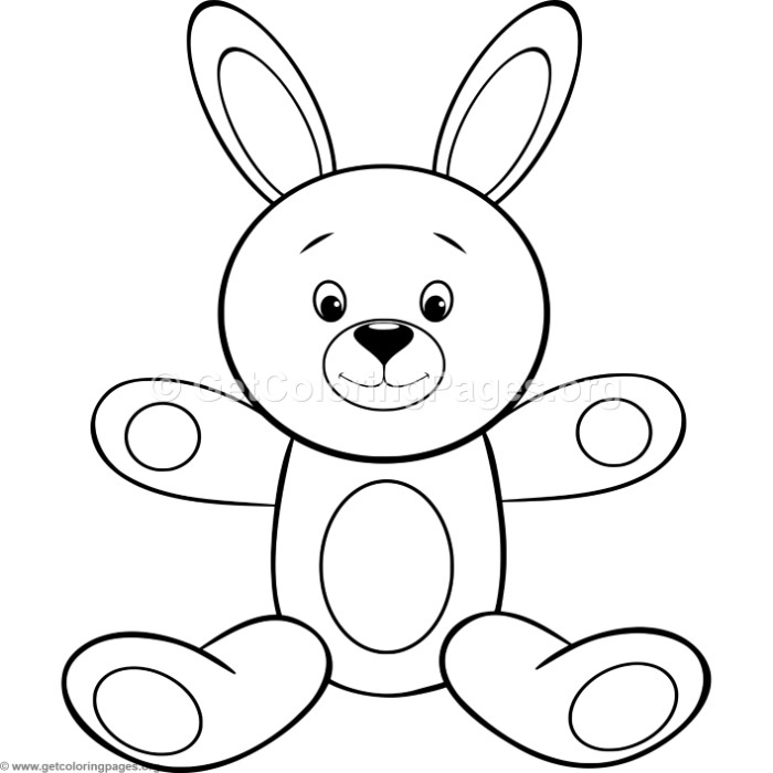 700x700 Simple Cute Cartoon Bunny Coloring Pages