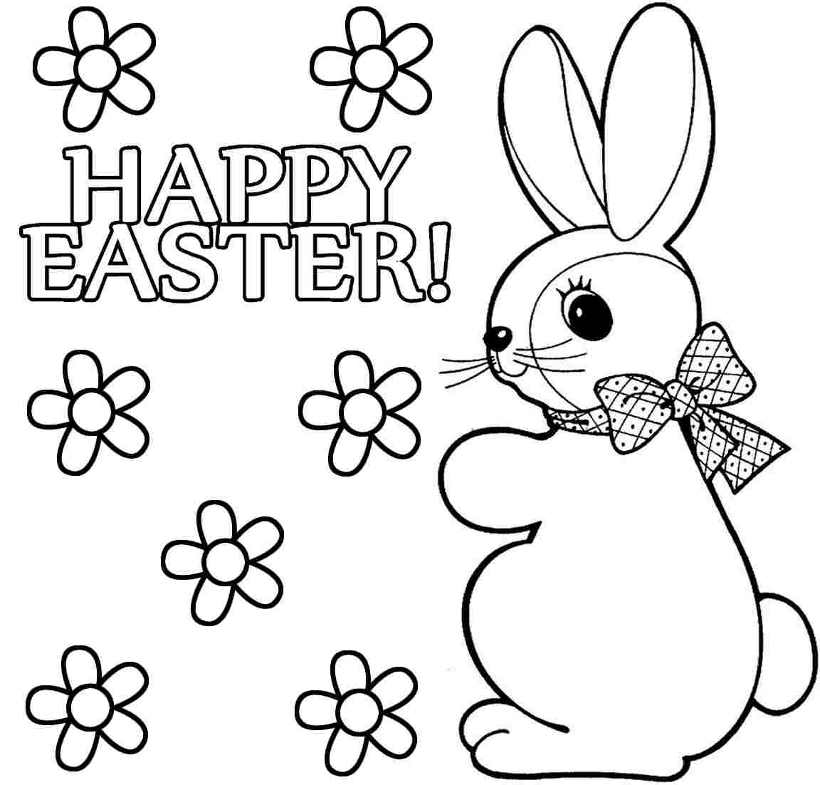 1152x1102 Simple Easter Bunny Coloring Page
