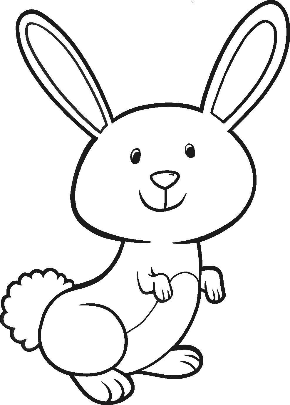 987x1375 Simple Easter Bunny Coloring Pages Simple Colorings