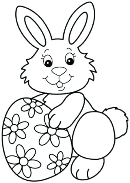 450x635 Bunny Coloring Pages Printable Classy Printable Easter Bunny