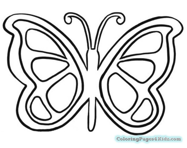 600x476 Butterfly Coloring Pages Simple Coloring Pages For Kids