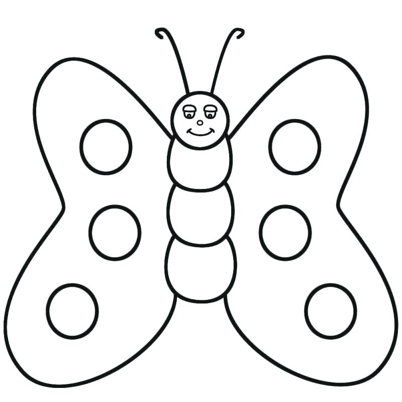 800x800 Butterfly Coloring Pages Summer Butterfly Coloring Pages Free