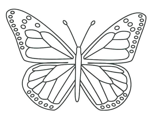 600x470 Coloring Page Of Butterfly Simple Butterfly Coloring Pages Simple