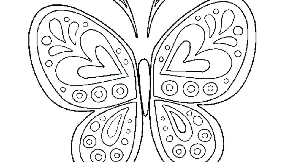 960x544 Free Butterfly Coloring Pages Adult Difficult Big Butterfly