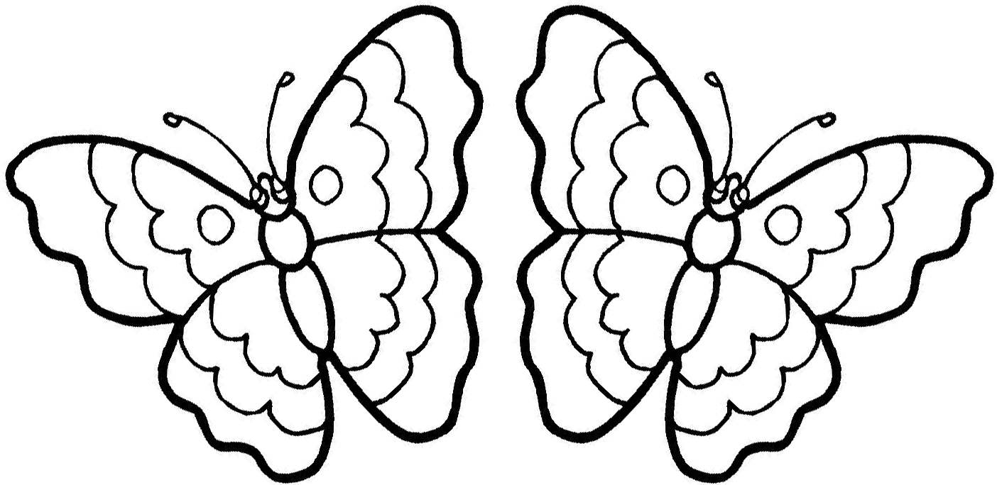 Simple Butterfly Coloring Page At Getdrawings Com Free For