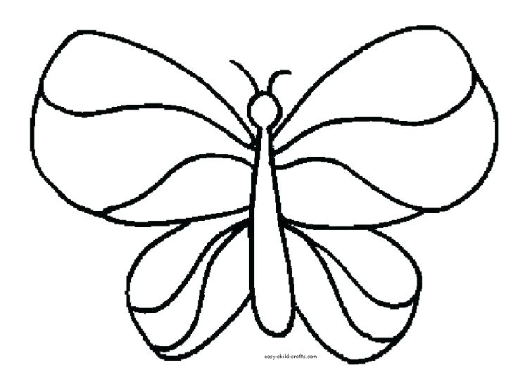 736x546 Free Simple Butterfly Coloring Pages Download Best Coloring