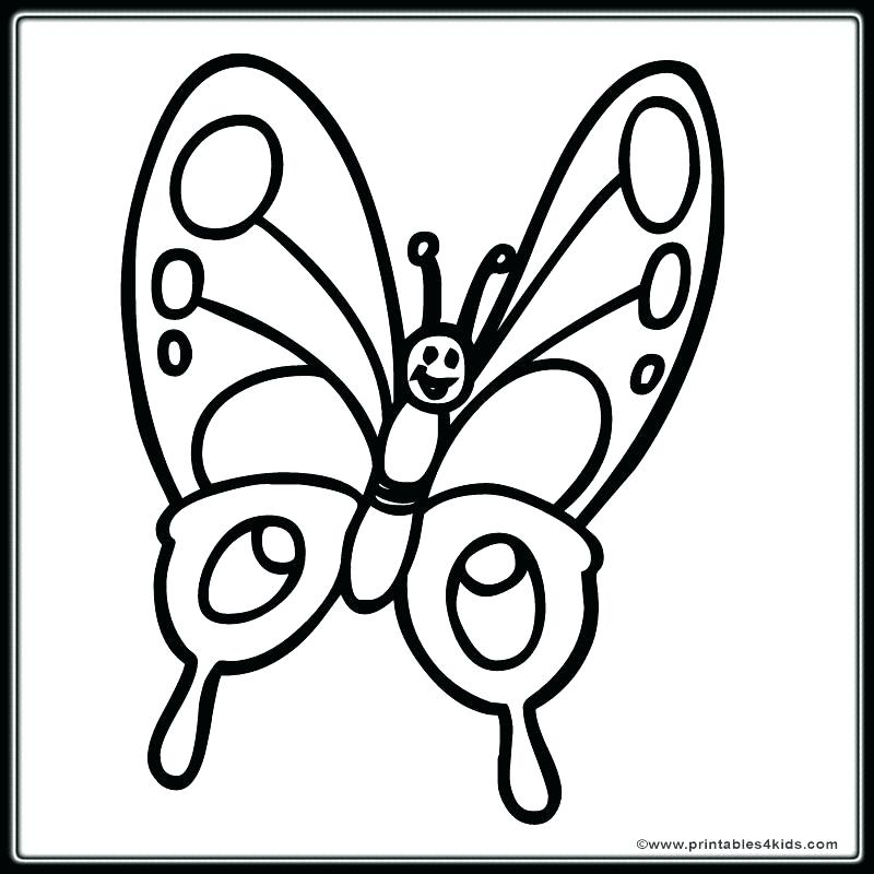 800x800 Free Simple Coloring Pages Free Coloring Pages Butterfly Free