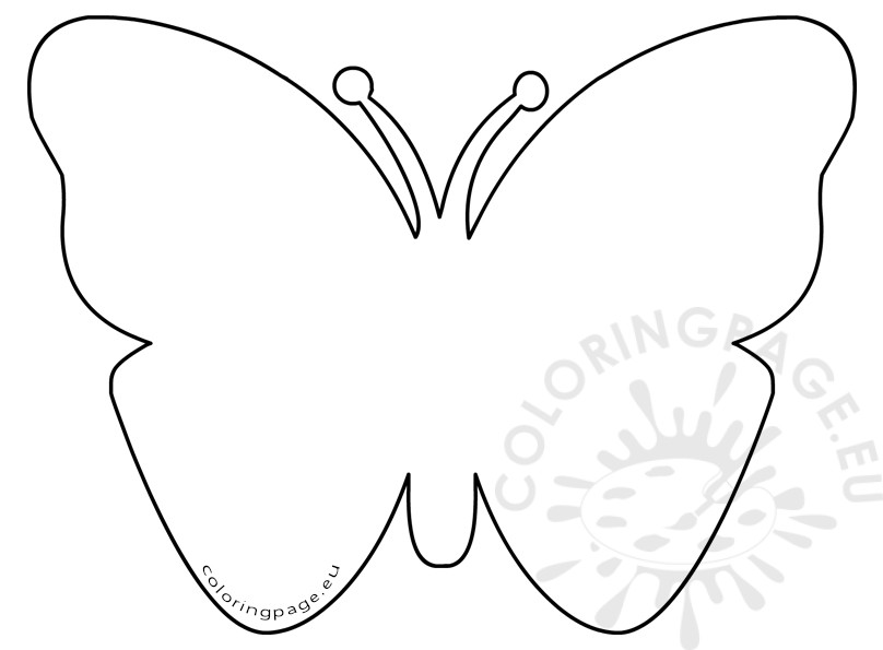808x595 Simple Butterfly Coloring Pages
