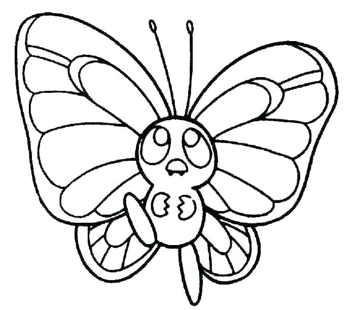 704x611 Simple Butterfly Coloring Pages Butterfly Coloring Images