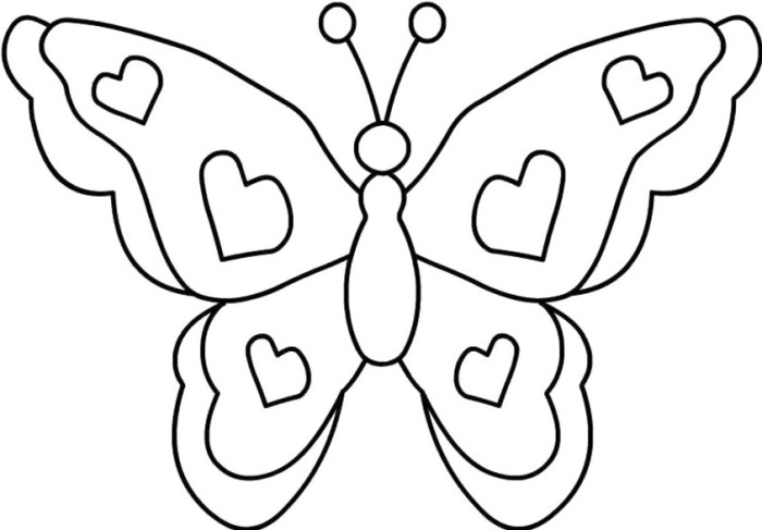 700x487 Butterfly Color Pages Simple Butterfly Coloring Pages