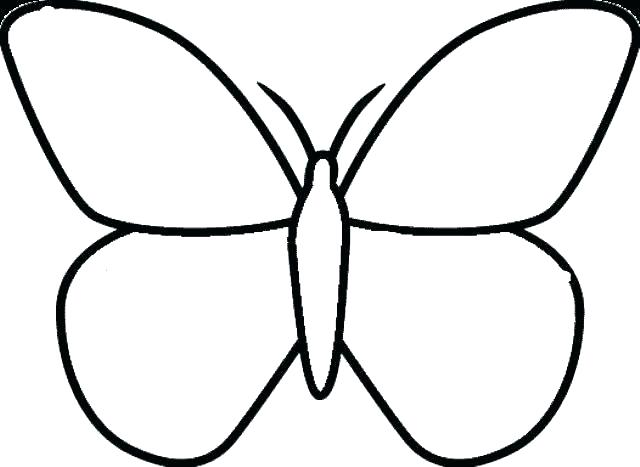 640x467 Coloring Pages Butterfly
