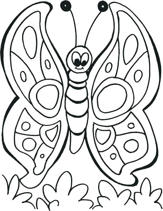 553x714 Simple Butterfly Coloring Pages