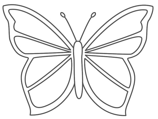 550x416 Butterfly Coloring Pages For Kids Butterfly Coloring Pages Simple