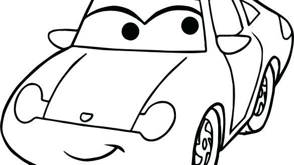 585x329 Simple Car Coloring Pages Color Bros Simple Car Simple Car