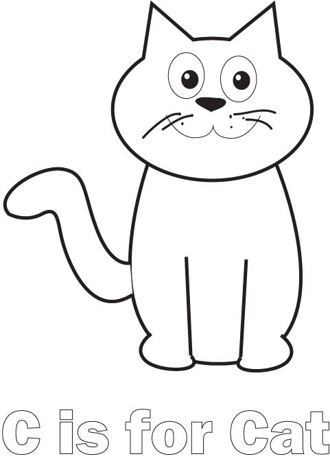 Simple Cat Coloring Pages