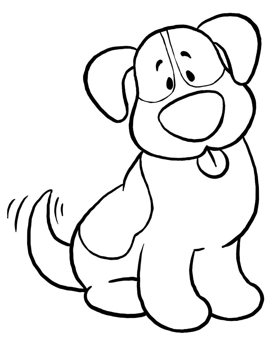 968x1200 Printable Dog Coloring Pages Simple Dog Coloring Pages Animal Dog