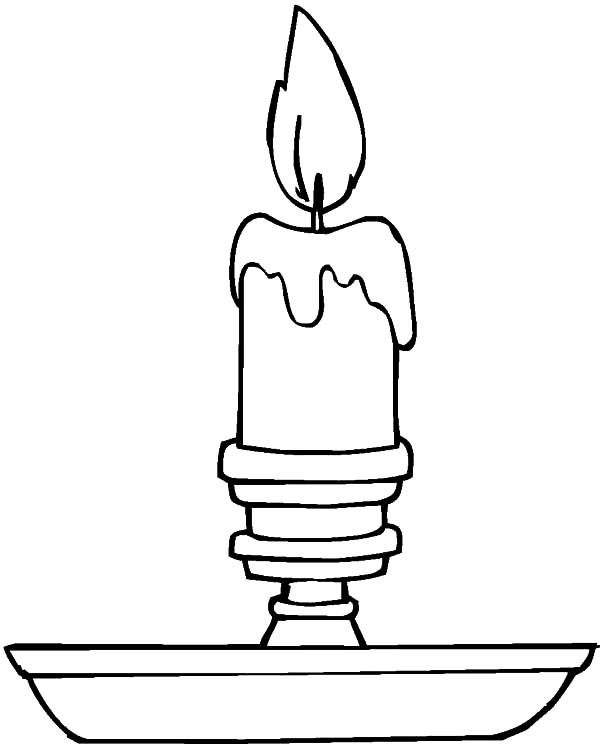 600x744 Candle Coloring Page Christmas Candle On Light On Christmas