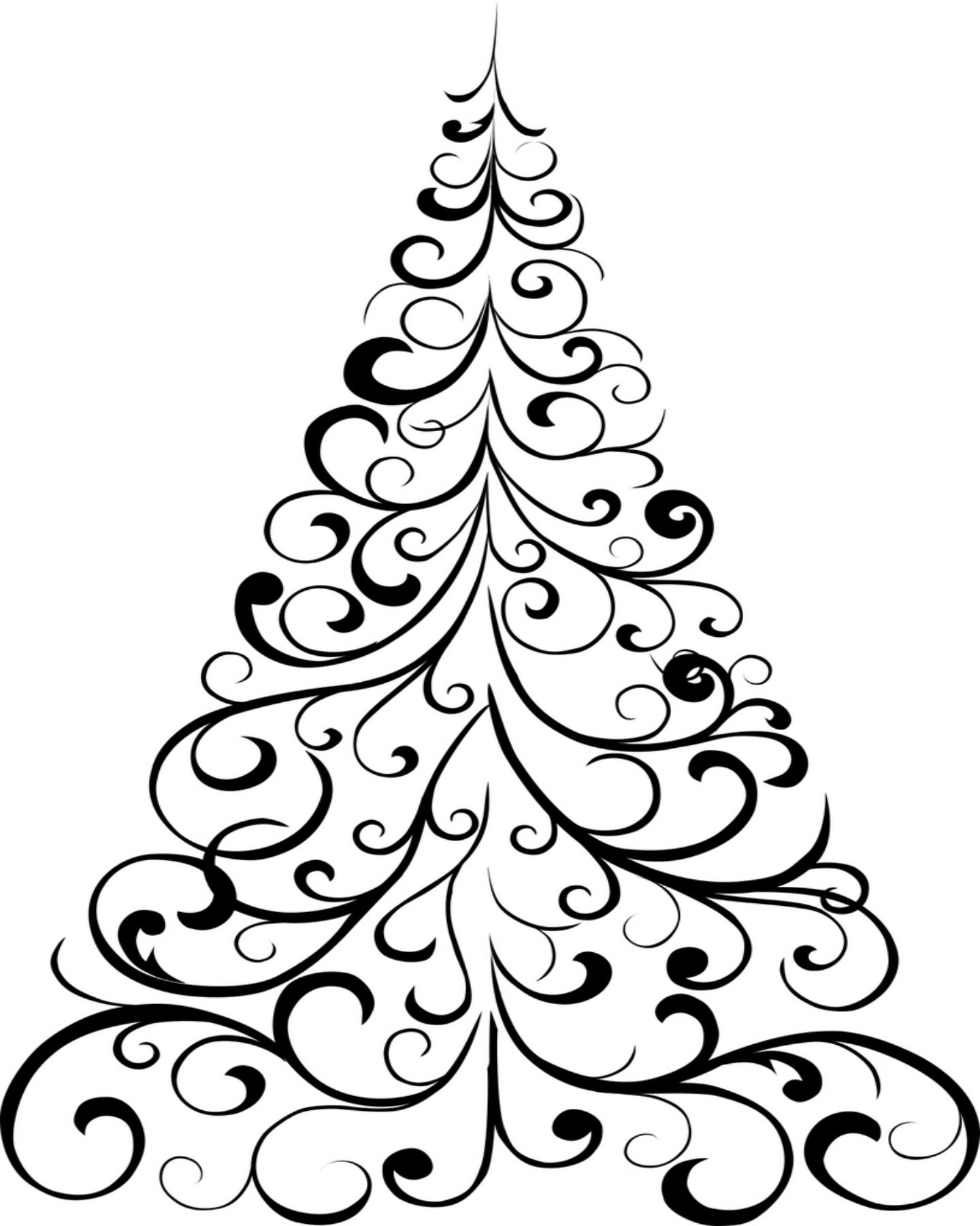1440x1800 Free Printable Christmas Tree Coloring Page Holly Jolly X Mas