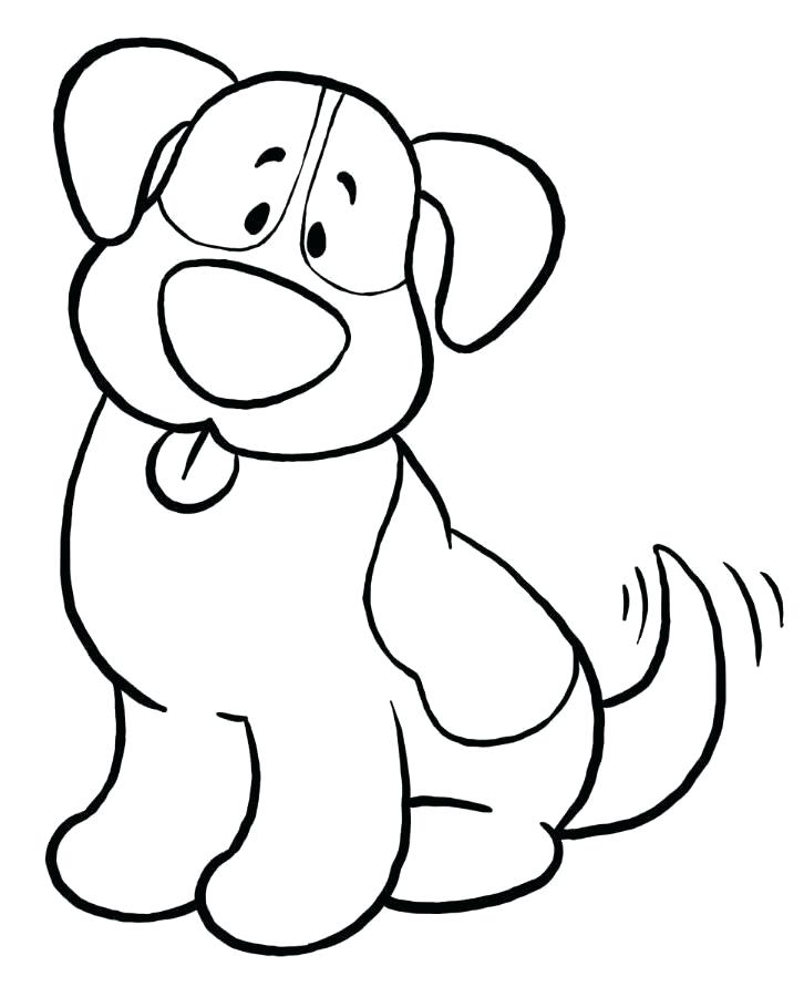 726x900 Doggy Coloring Pages Free Simple Coloring Pages Simple Dog
