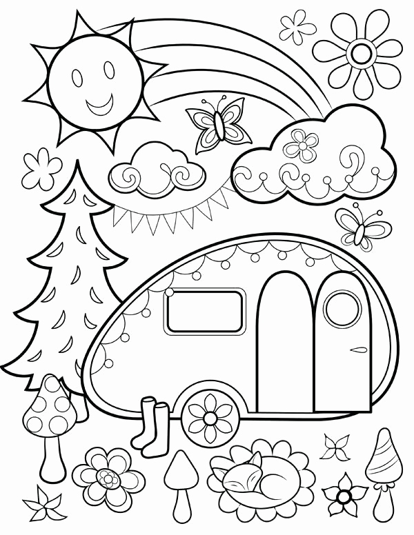 600x776 Simple Coloring Pages For Year Olds Photograph Printable