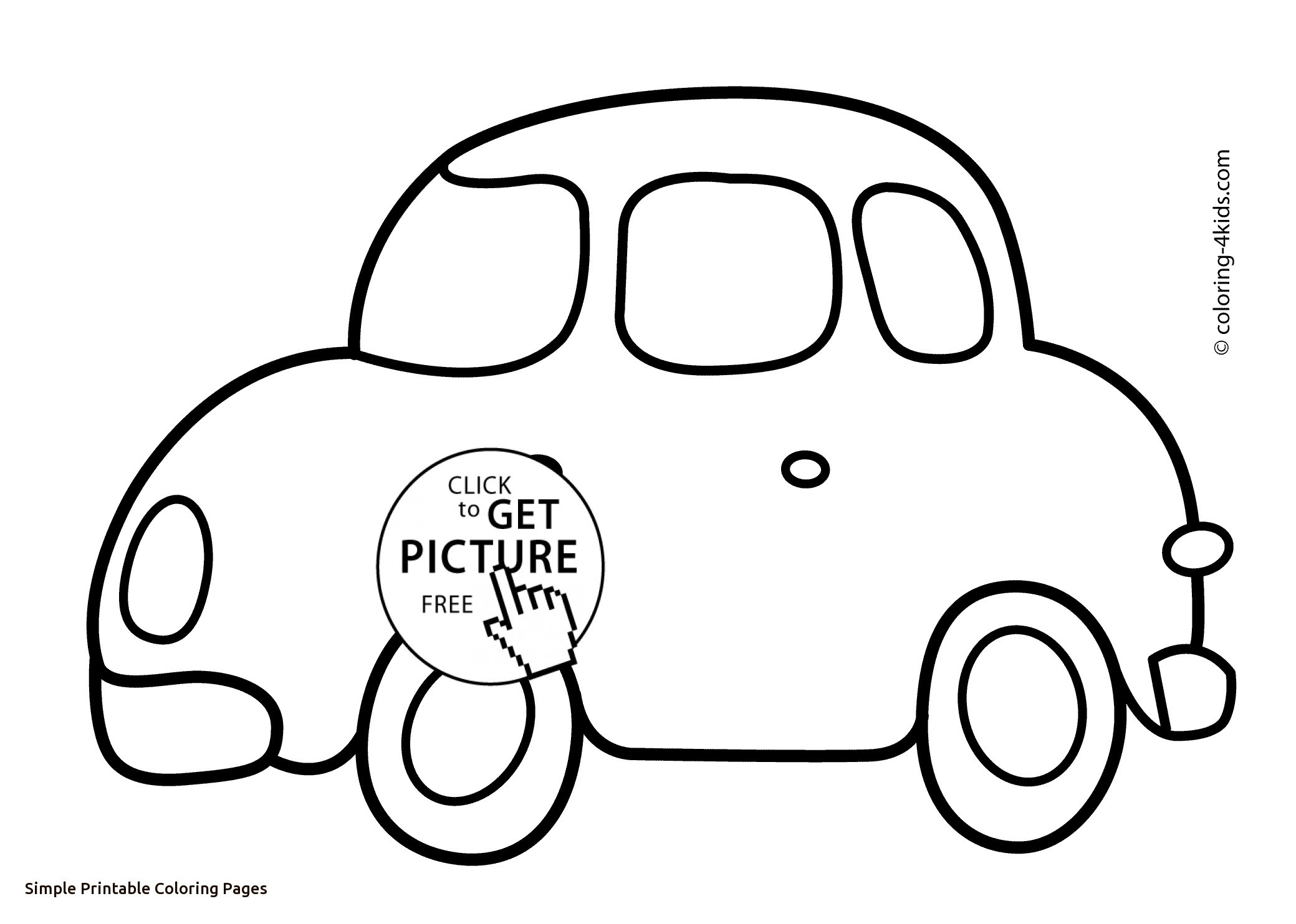 Simple Coloring Pages For Kids At Getdrawings Com Free For