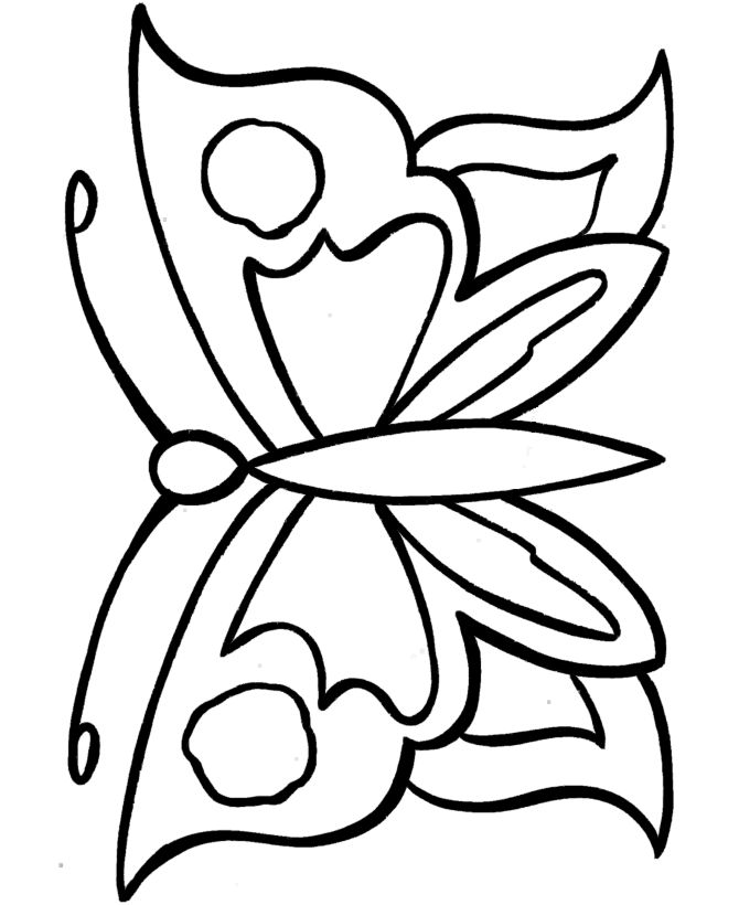 Simple Coloring Pages For Preschool