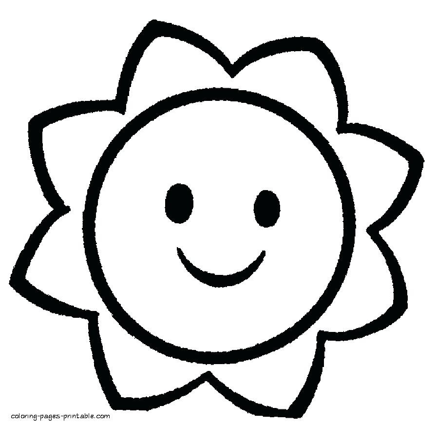 Simple Coloring Pages For Preschool At Getdrawings Free Download
