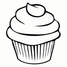 230x230 Top Free Printable Cupcake Coloring Pages Online Simple