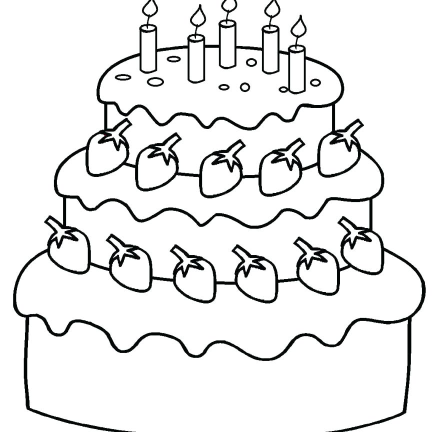 890x864 Blank Birthday Cake Coloring Page Preschool Birthday Cake Coloring