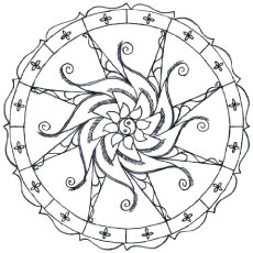 Simple Design Coloring Pages
