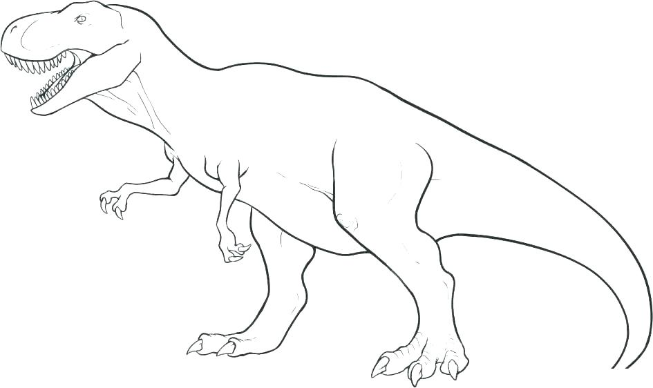 Simple Dinosaur Coloring Pages At Getdrawings Com Free For