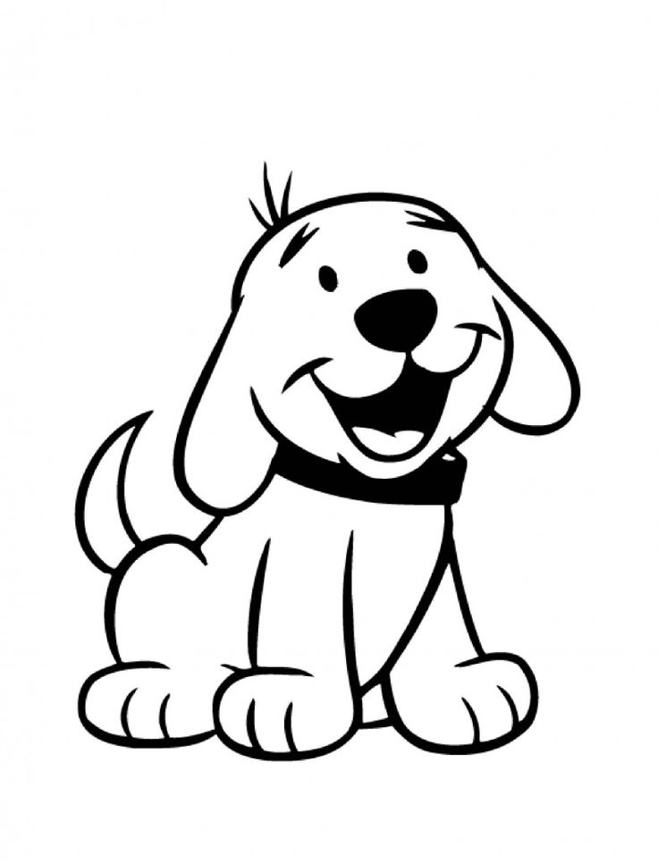 Simple Dog Coloring Pages