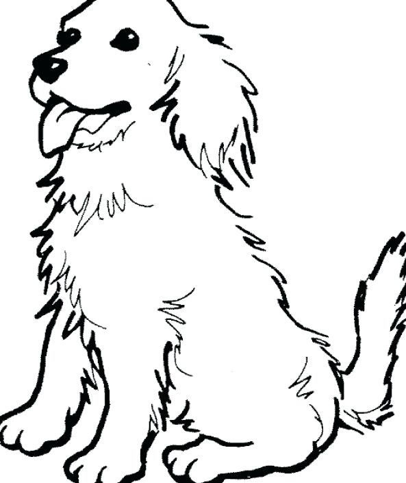 593x705 Dog Coloring Pages Simple Dog Coloring Pages To Print