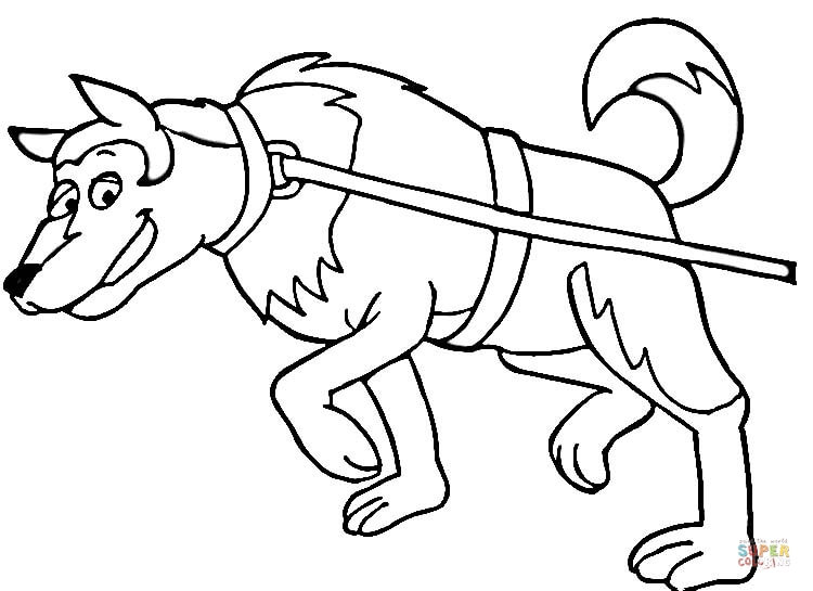 750x545 Dog Sled Coloring Pages