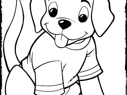 440x330 Doggy Coloring Pages Cute Puppy Coloring Sheets Dogs And Puppies