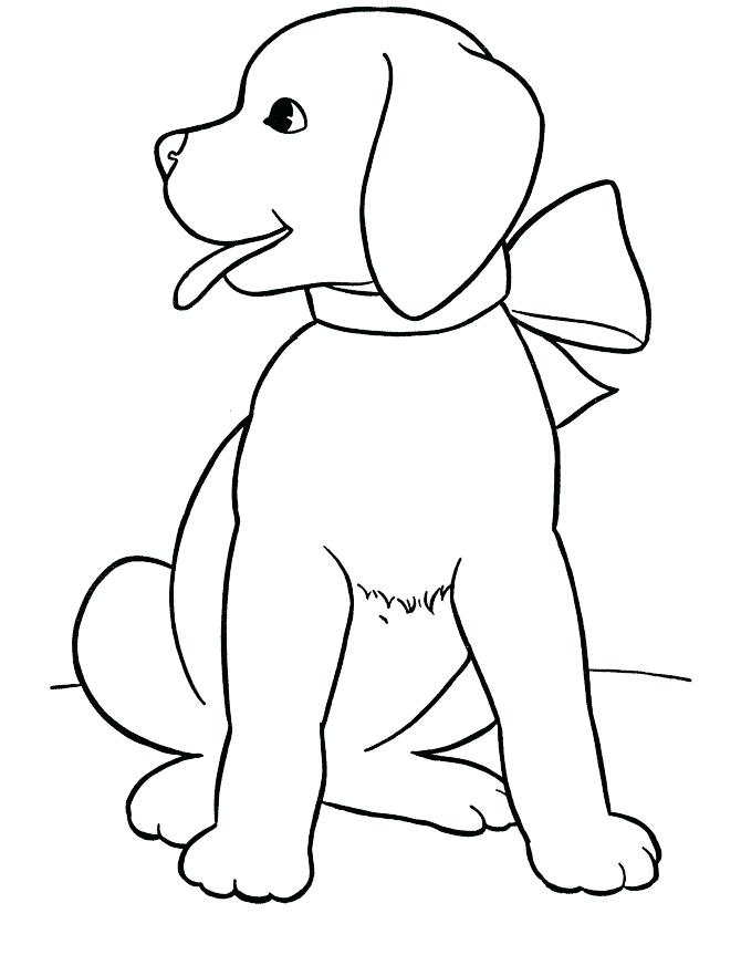 670x863 Doggy Coloring Pages Realistic Dog Coloring Pages Cute Puppy